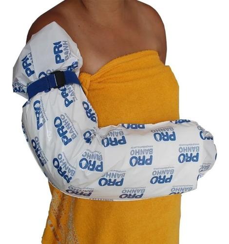capa protetora de gesso probanho braço infantil