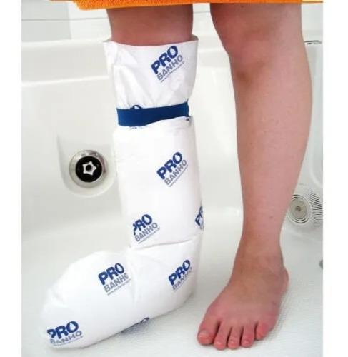 capa protetora de gesso probanho meia perna adulto