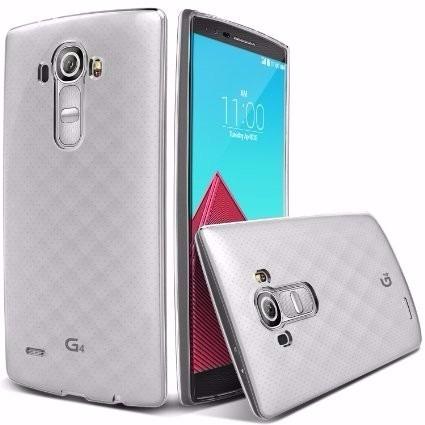 capa protetora lg g4 em tpu flexivel + película de vidro