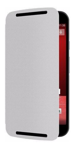 capa protetora original flip cover branca moto g 2 geração