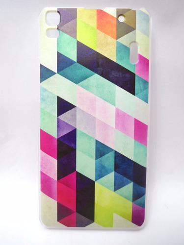 capa protetora para lenovo k3 note desenhos triangulares