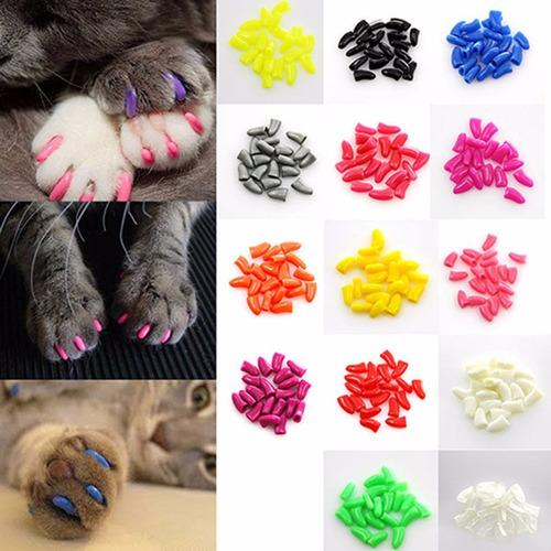 capa protetora unha gato -pacote  40 unhas silicone uma cola