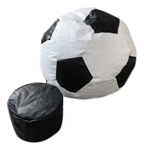 capa puff bola futebol ** vazio ** 90 cm diâmetro courino