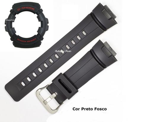 capa + pulseira bezel casio g-100 g-101 g-shock preto fosco
