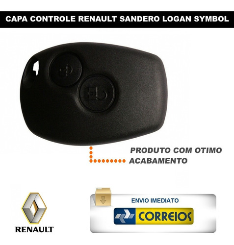 capa renault control telecomando alarme symbol sandero logan