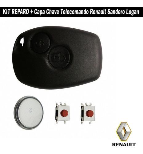 capa + reparo controle telecomando alarme logan e sandero