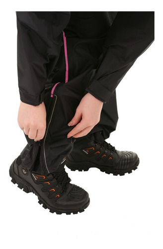 capa roupa conjunto chuva motoqueiro feminina nylon 0129