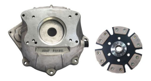 capa seca motor ap x câmbio clark 260f + disco - adap brasil