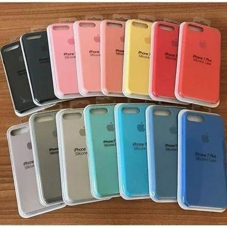 capa silicone apple iphone 6 7 8 plus x + película de gel