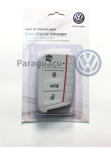 capa silicone chave virtus/t-cross/fusca/golf/ tiguan 2018
