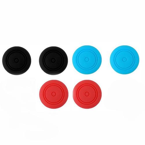 capa silicone nintendo switch + rocker cap l vermelho r azul
