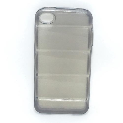 capa silicone quadrada para iphone 4/4s - fumê