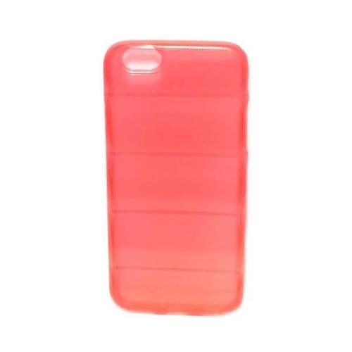 capa silicone quadrada para iphone 6 - vermelha