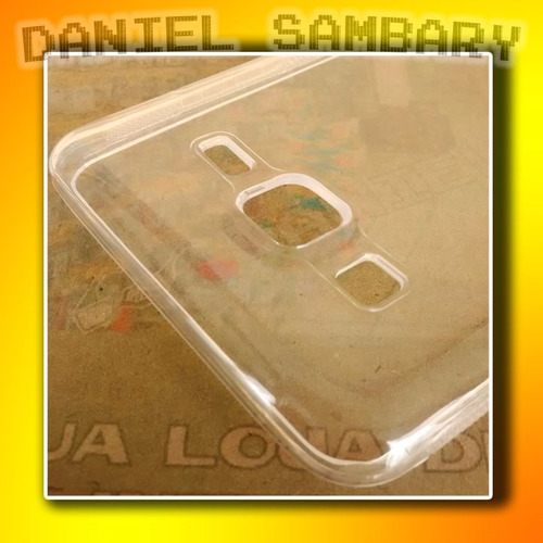 capa silicone samsung galaxy on 5 g550 tpu + pelicula vidro