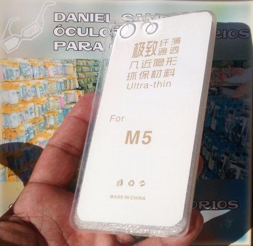 capa silicone ultrafina casca de ovo para sony xperia m5