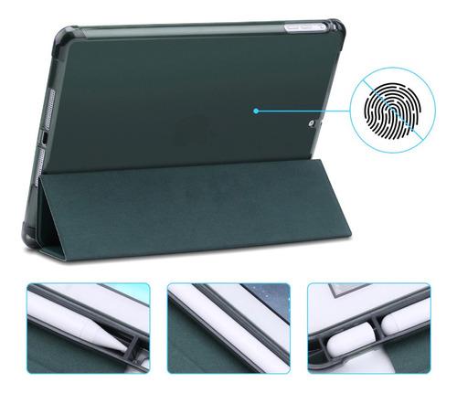 capa smartcase apple new ipad 10.2 c/ suporte p pencil verde