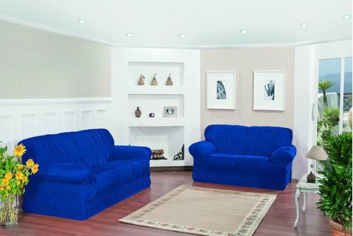 capa sofá 3 e 2 lugares malha gel 21 elásticos linha ouro