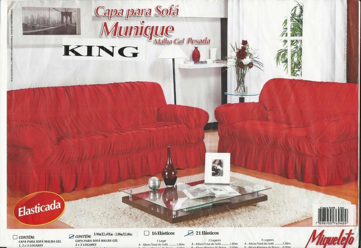 6454fe7ed Capa Sofá Estampada 3 E 2 Lugares 21 Elásticos - R$ 95,00 em Mercado ...