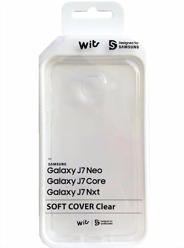 capa soft cover clear original wits galaxy j7 neo core e nxt