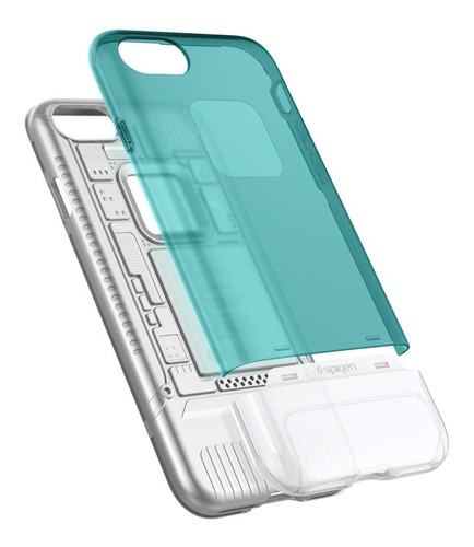 capa spigen apple iphone 7 8 plus ed imac g3 classic c1 azul
