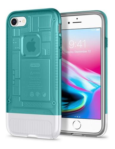 capa spigen apple iphone 7 8 plus ed imac g3 classic c1 azul