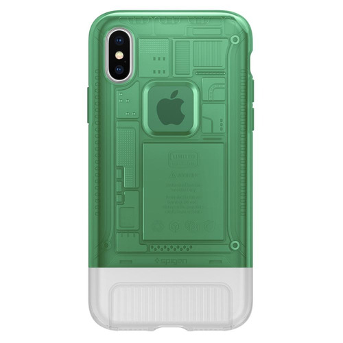 capa spigen apple iphone x e xs imac g3 classic c1 verde