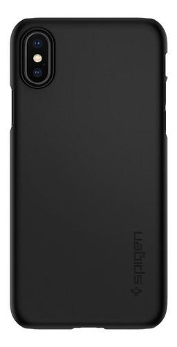 capa spigen original apple iphone x e xs thin fit preto
