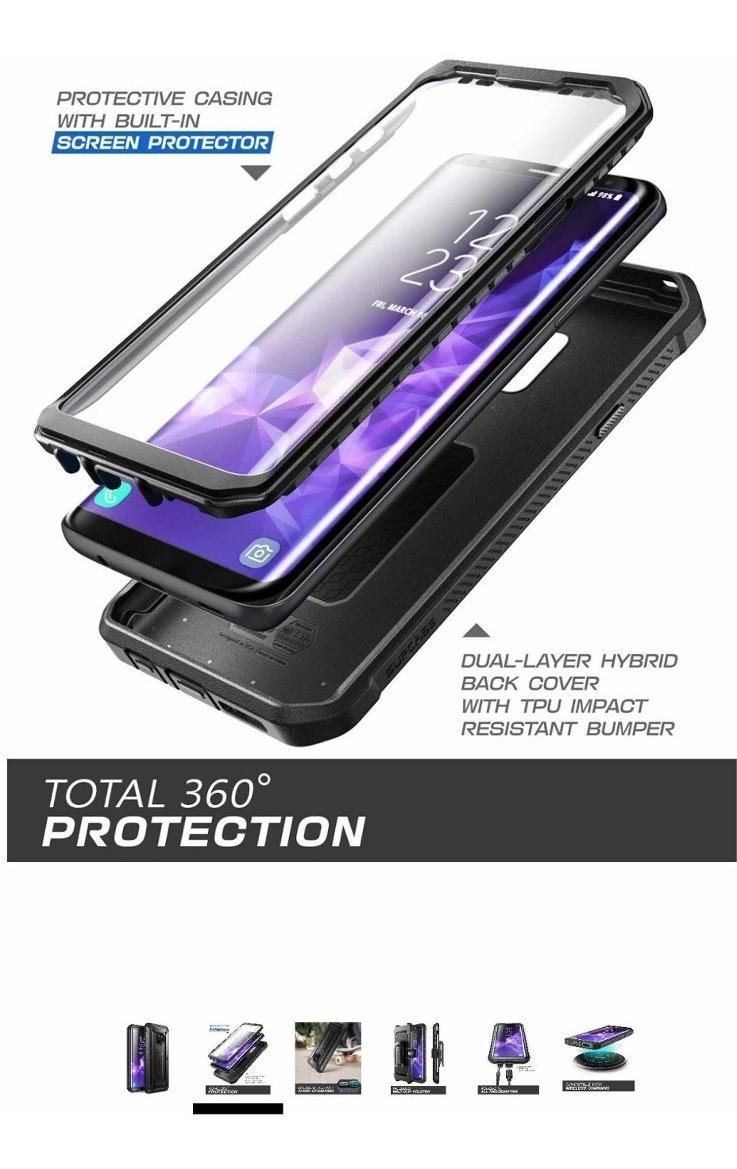 wholesale dealer bf97f 43f9a Capa Supcase Unicorn Beetle Pro Com Belt Clip Galaxy S9