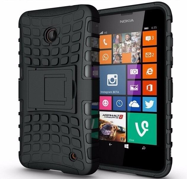 d4dd4e61ede Capa Suporte Armadura Nokia Lumia 630 635 C/1 Pel. De Vidro - R$ 33,92 em  Mercado Livre