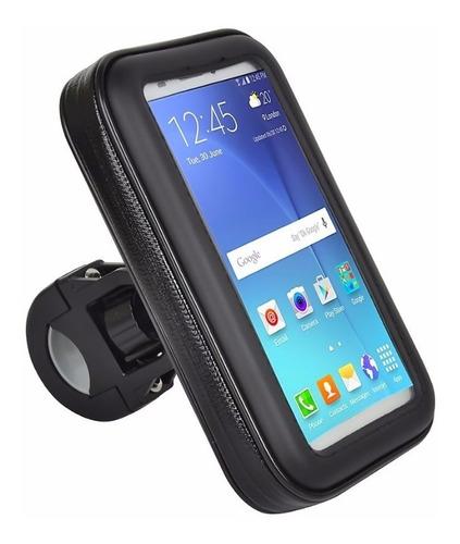capa suporte guidão moto bike p/ celular smartphone até 5,7