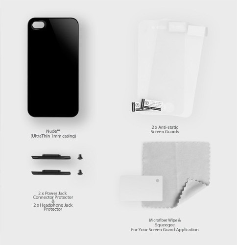 capa switcheasy nude transparente iphone 4 / 4s