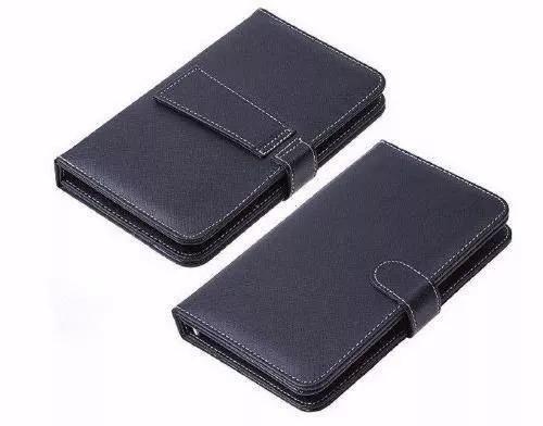 capa tablet case com teclado 7  usb preta com apoio