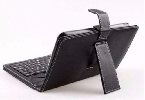 capa tablet case com teclado 7 usb preta com apoio aproveite
