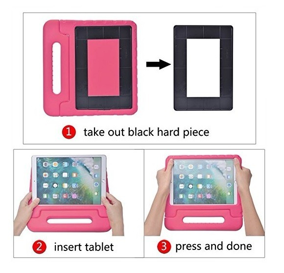 548b7b389 Capa Tablet Samsung Tab A 8 T350 P355 Infantil Maleta Rosa - R  67 ...