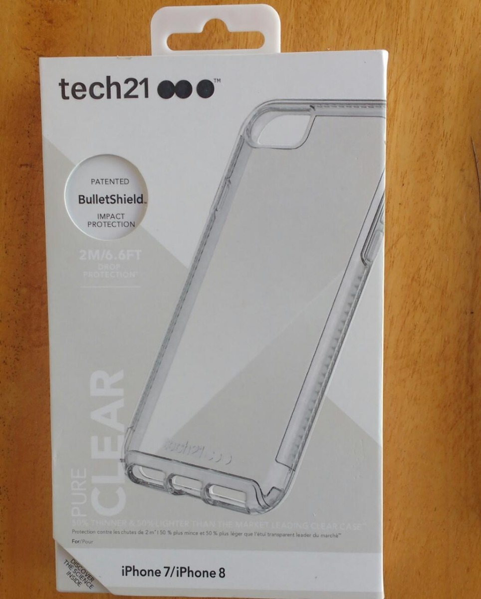 cheap for discount 1afcb 3f5b5 Capa Tech21 Pure Clear iPhone 7 / 8 +pelicula