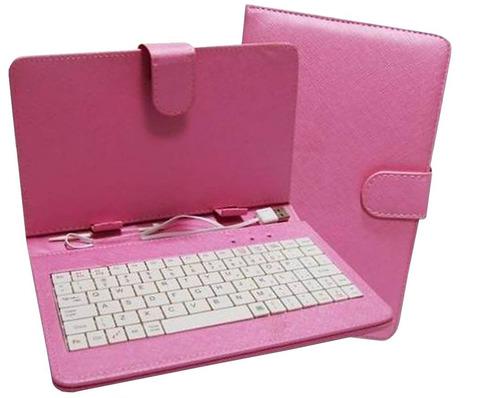 capa teclado caneta para tablet 7 polegadas várias cores