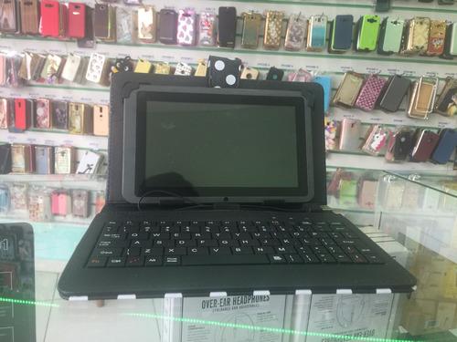capa teclado p/tablet universal 7 polegadas entrada usb nova