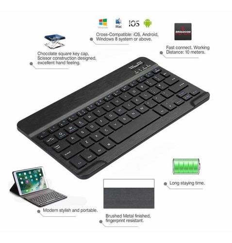 capa  teclado samsung galaxy tab s4 10.5 + vidro