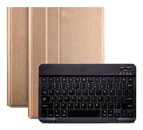 capa teclado samsung galaxy tab s5e 10.5 t720 t725 dourado