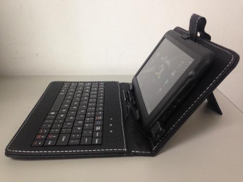 capa teclado tablet universal entrada usb 7 polegadas nova