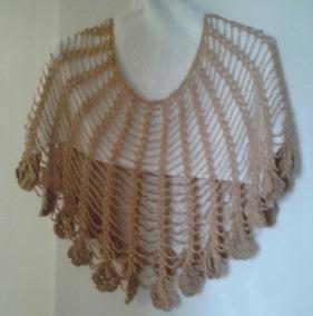7661c2345 Capa Tejida Crochet - Accesorios de Moda Marrón en Mercado Libre ...