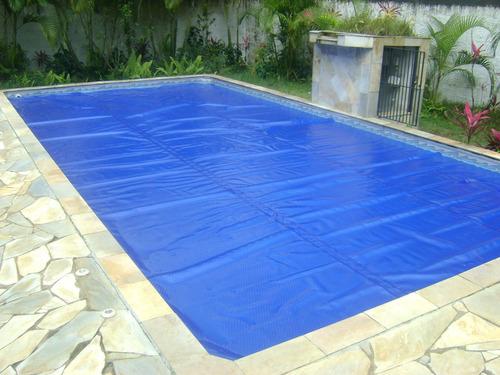 capa termica 300 micras azul piscina aquecida capa bolha