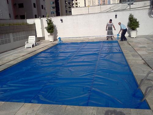 capa térmica com borda reforço para piscinas