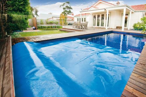 capa térmica piscina - capa bolha 6x3 metros- 500 micras