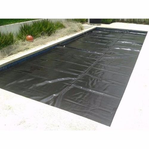 capa térmica piscina thermocap 300 micras 12,00x4,50 preta