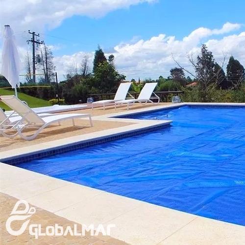 capa térmica thermocap tco 5 x 2,5 metros azul de piscina