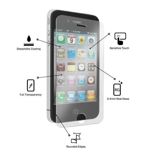 capa tpu anti impacto iphone 4 4s + película de vidro