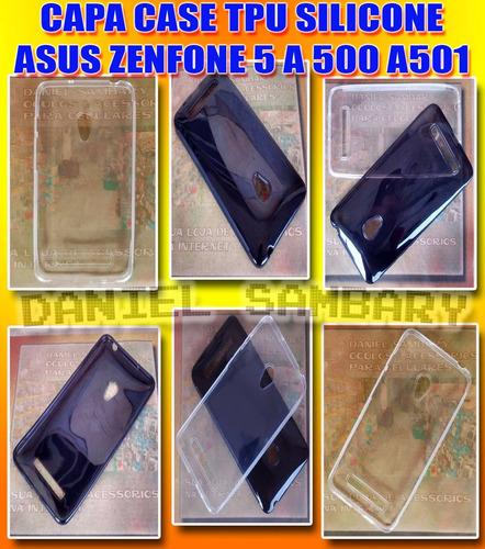 capa tpu asus zenfone 5 a500 a501 case silicone mega oferta!