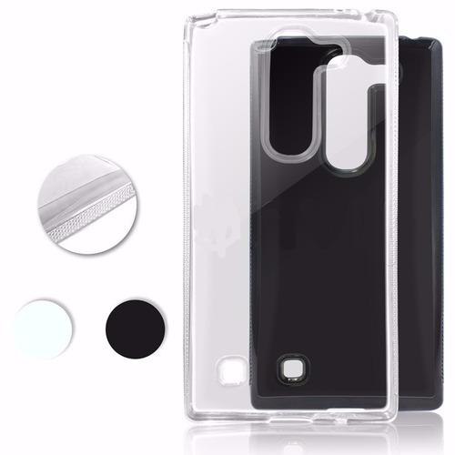 capa tpu fumê & transparente + película vidro lg volt h422
