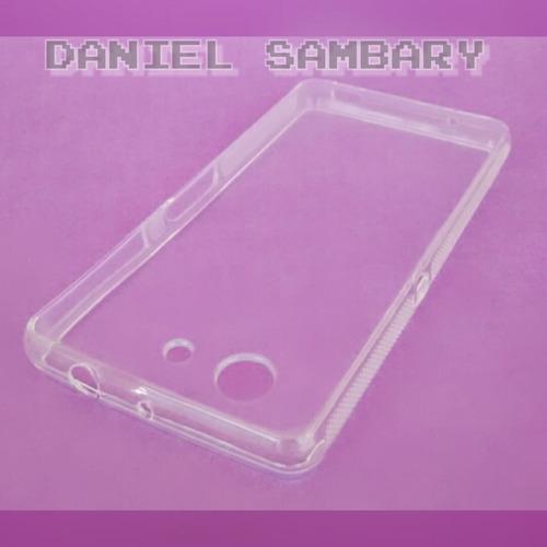 capa tpu fume sony xperia z3 d5833 + película vidro promoção